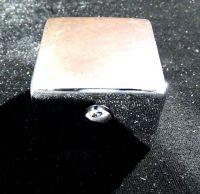 Ручка переключения режимов смесителя квадратная металл хром на шлицах