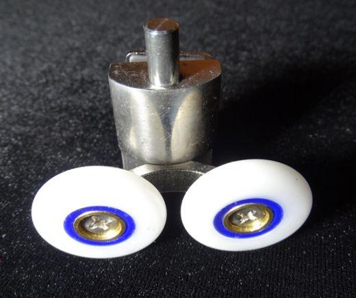 Ролик нижний двойной металл 25мм N4